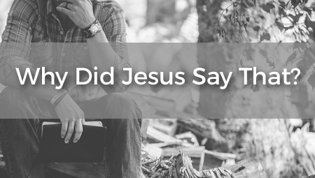 Why Did Jesus Say That?