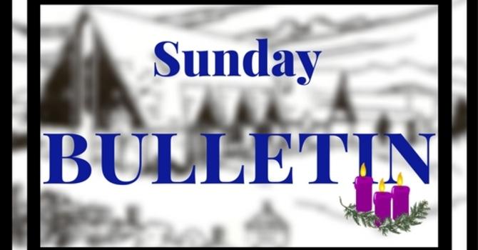 Bulletin-Sunday, December 17 Advent III image