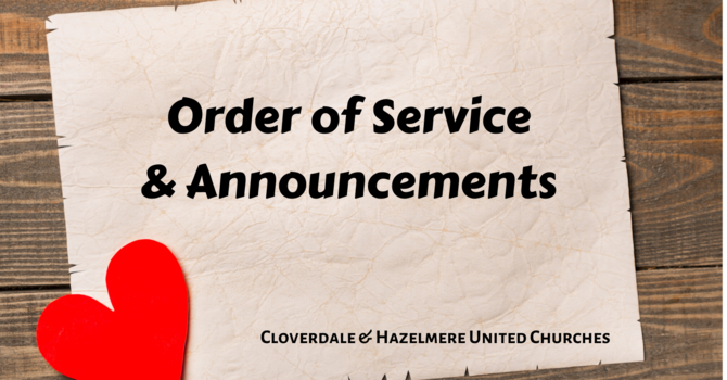 Order of Service & Announcements image