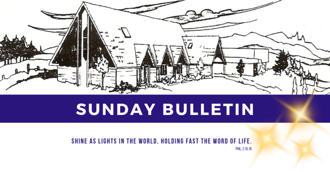 Bulletin - Sunday, March 3, 2019 image