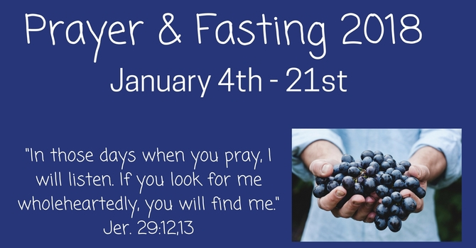 Prayer & Fasting 2018 image