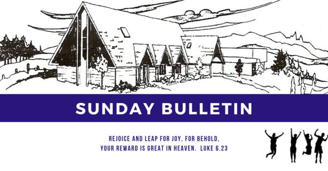 Bulletin - Sunday, February 17, 2019 image