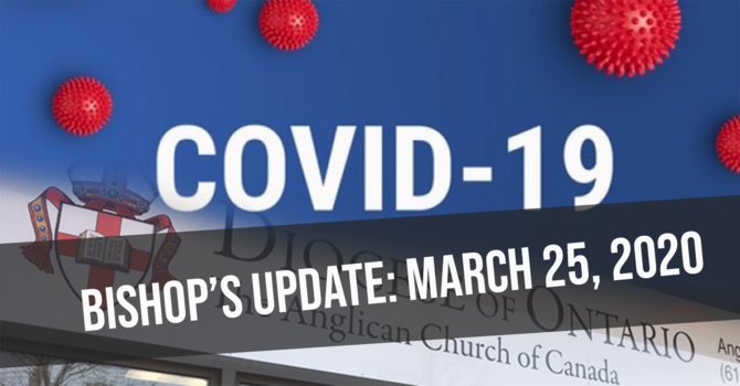 Bishop's update: March 25, 2020 image