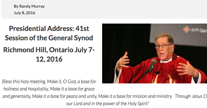 Primate's Presidential Address to General Synod image