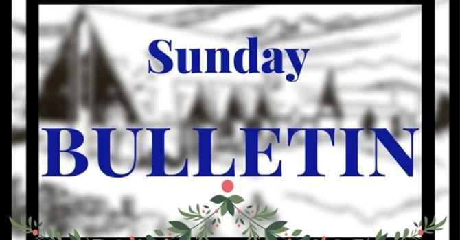 Bulletin - January 8, 2017 image