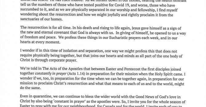 Easter letter image
