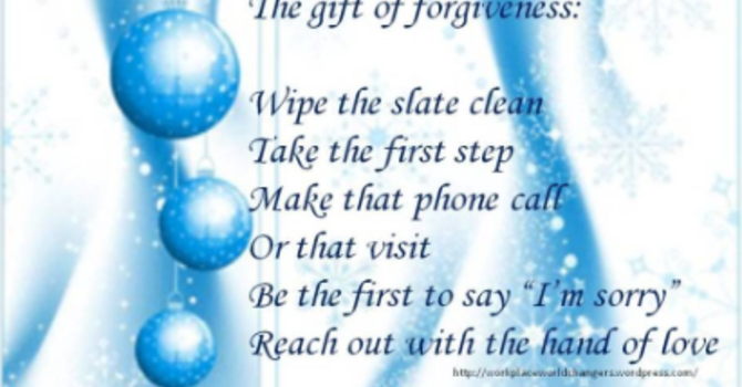Advent 3 : Source of Miracles - Forgiveness