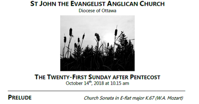 The Twenty-first Sunday after Pentecost
