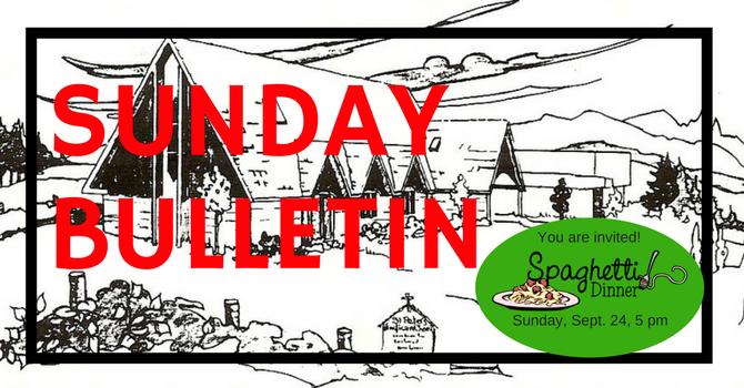 Bulletin - Sunday September 24, 2017 image