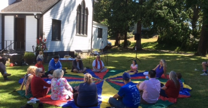 Great Outdoor Service and Parish Picnic was held July 2 image