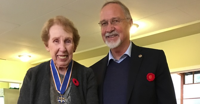Molly Koning receives the Order of the Diocese of New Westminster image