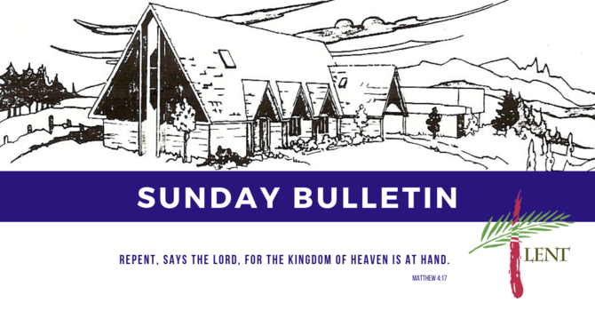 Bulletin - Sunday, March 24, 2019 image