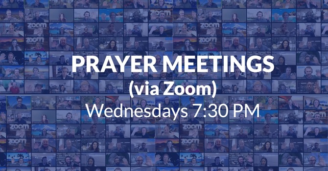 Zoom Prayer Meetings