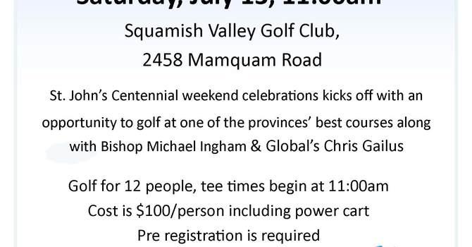 Golf Kicks off St. John's, Squamish Centennial Weekend image