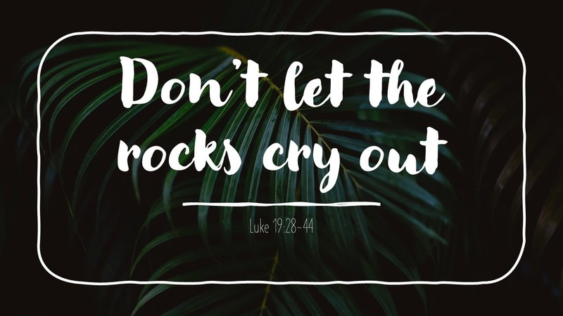 Don't Let the Rocks Cry Out