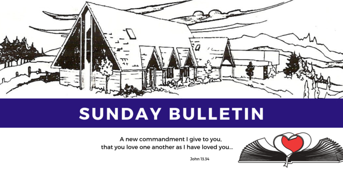Bulletin - Sunday, May 19, 2019 image
