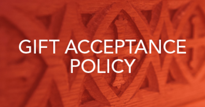 Giving Acceptance Policy