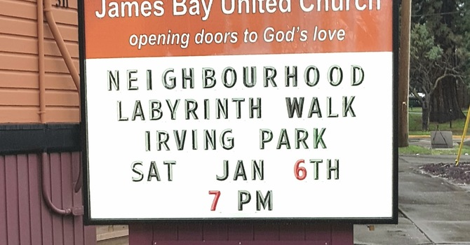 Our new sign.  Invitations for  the neighbourhood! image