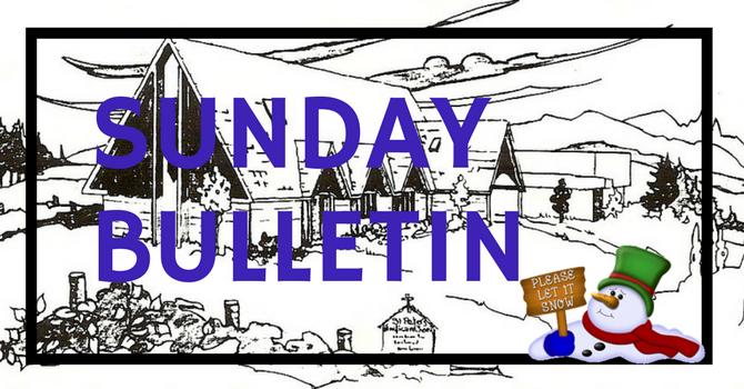 Bulletin - January 14, 2018 image