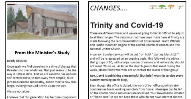 Trinity Times for March 2020 image