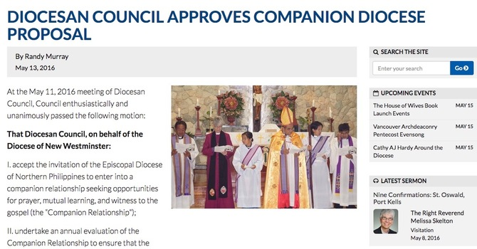 Companions with the Diocese of the Northern Phillipines image