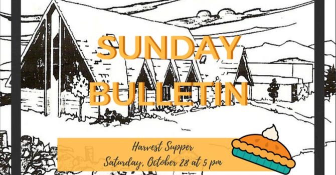 Bulletin - Sunday, October 22, 2017 image