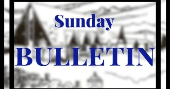 Bulletin - Sunday, October 29, 2017 image