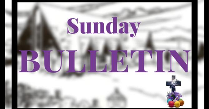 Bulletin - Sunday, April 2, 2017 image