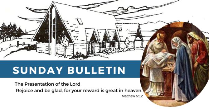 Bulletin - Sunday, February 2, 2020 image