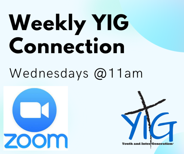 Weekly YIG get together for youth leaders