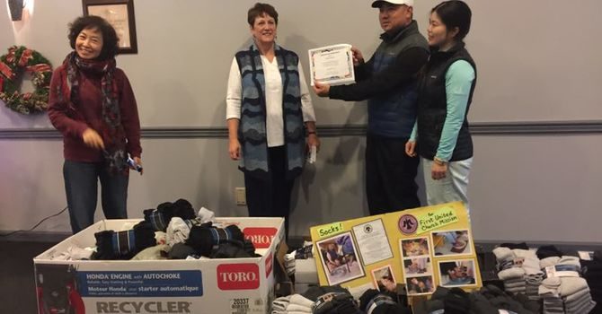 Westca Golf Club Donates 1200 pairs of socks image