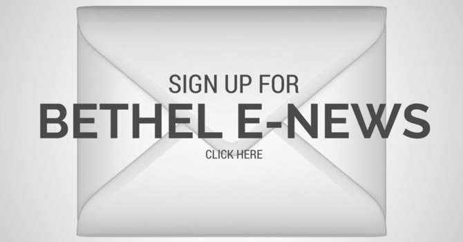 Sign up for Bethel E-News image