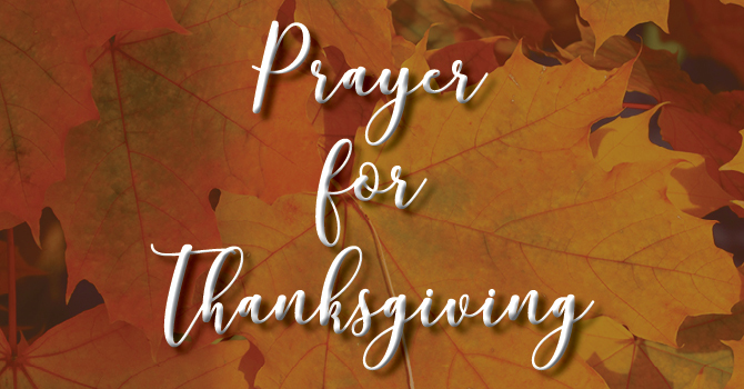 Prayer For Thanksgiving image