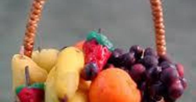 A basket of ripe fruit