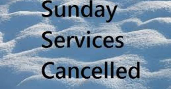 Today's service is CANCELLED! image
