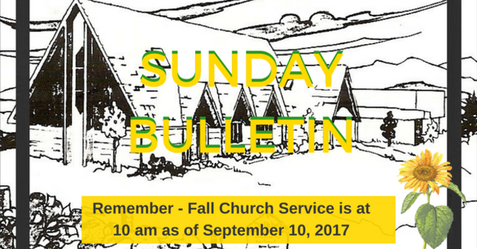 Sunday Bulletin - September 3, 2017 image