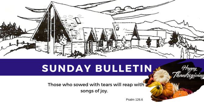 Bulletin - Sunday, October 13, 2019 image