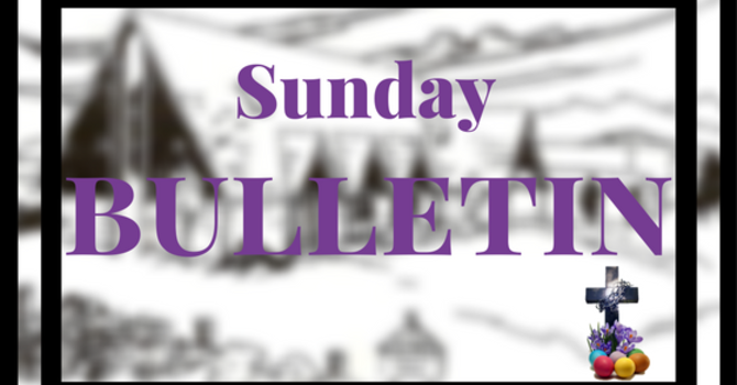 Bulletin - Palm Sunday, April 9, 2017 image