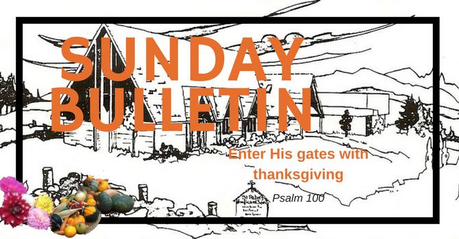 Bulletin - Sunday, October 15, 2017 image
