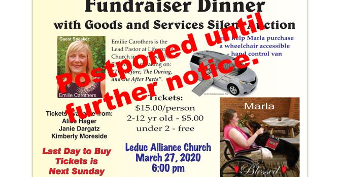 Marla Fundraiser Cancelled