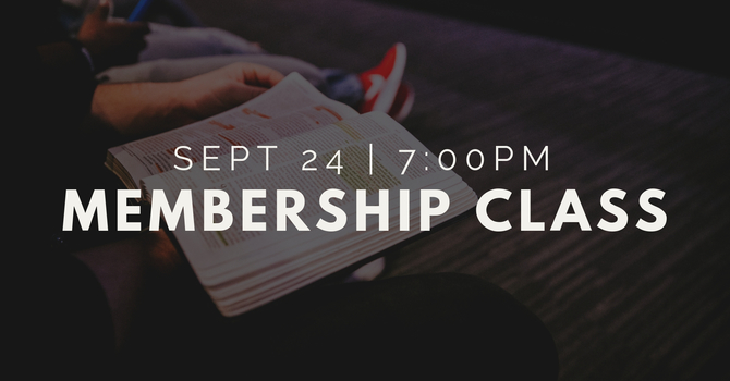 Upcoming Membership Class image
