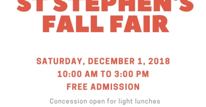 Fall Fair at St Stephen Burnaby