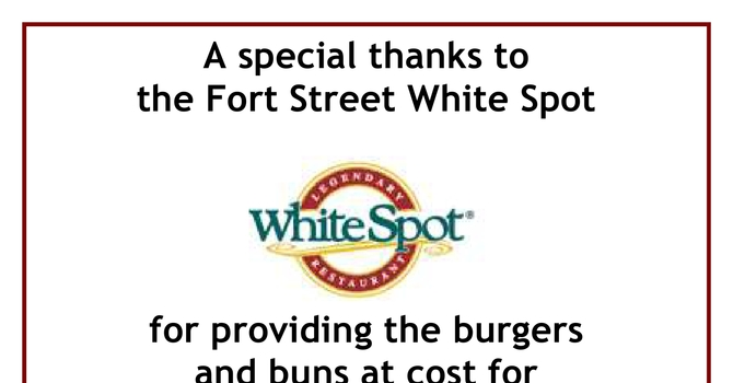 Thank You to the Fort Street White Spot image