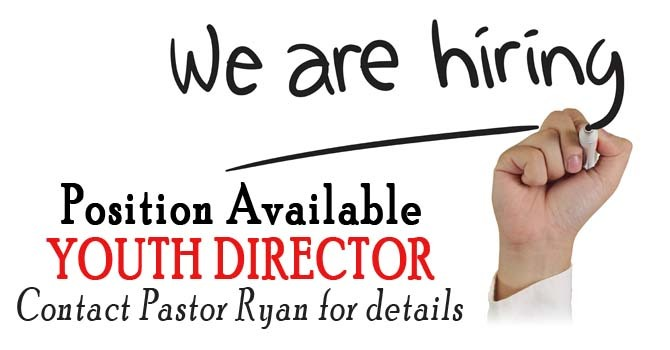 We're Hiring - Youth Director Position image