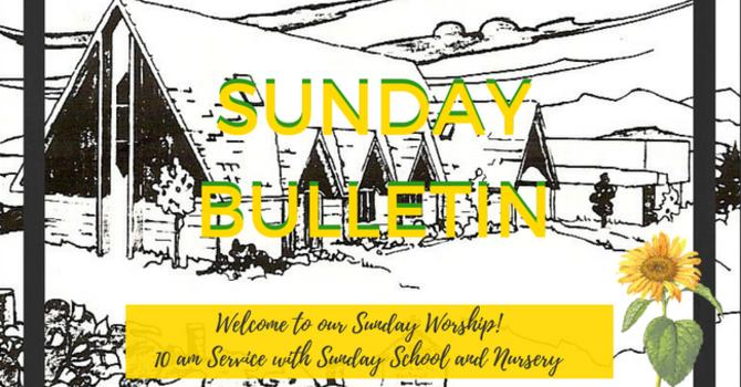 Sunday Bulletin - September 10, 2017 image