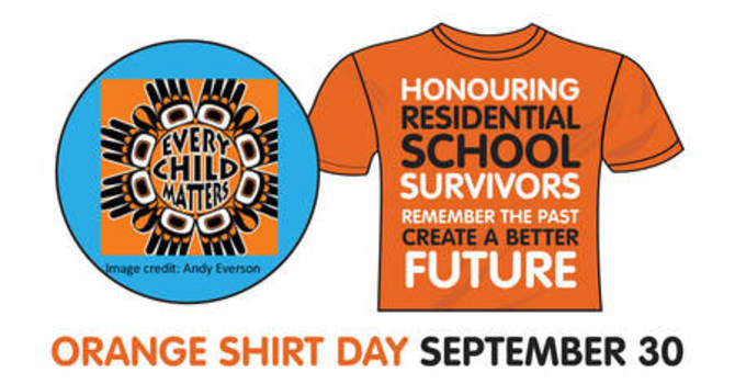 Orange Shirt Day - September 30th image