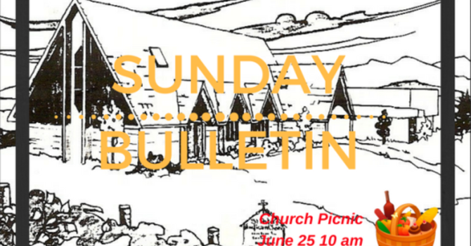 Sunday Bulletin - June 18 image
