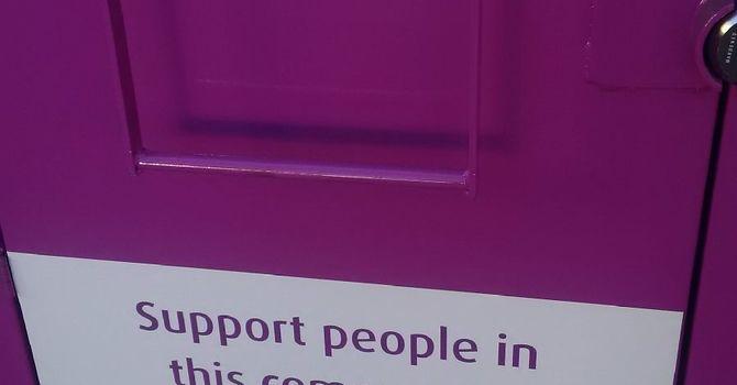 Purple Clothing Bins image
