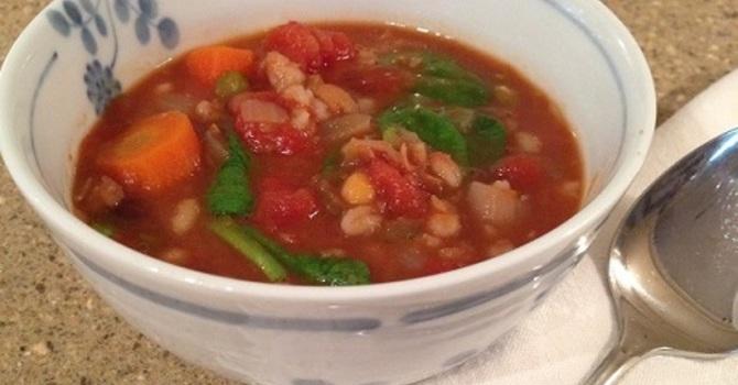 Lentil Vegetable Soup for Lent image