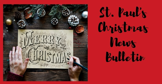 St. Paul's December 24 & 25th News Bulletin image